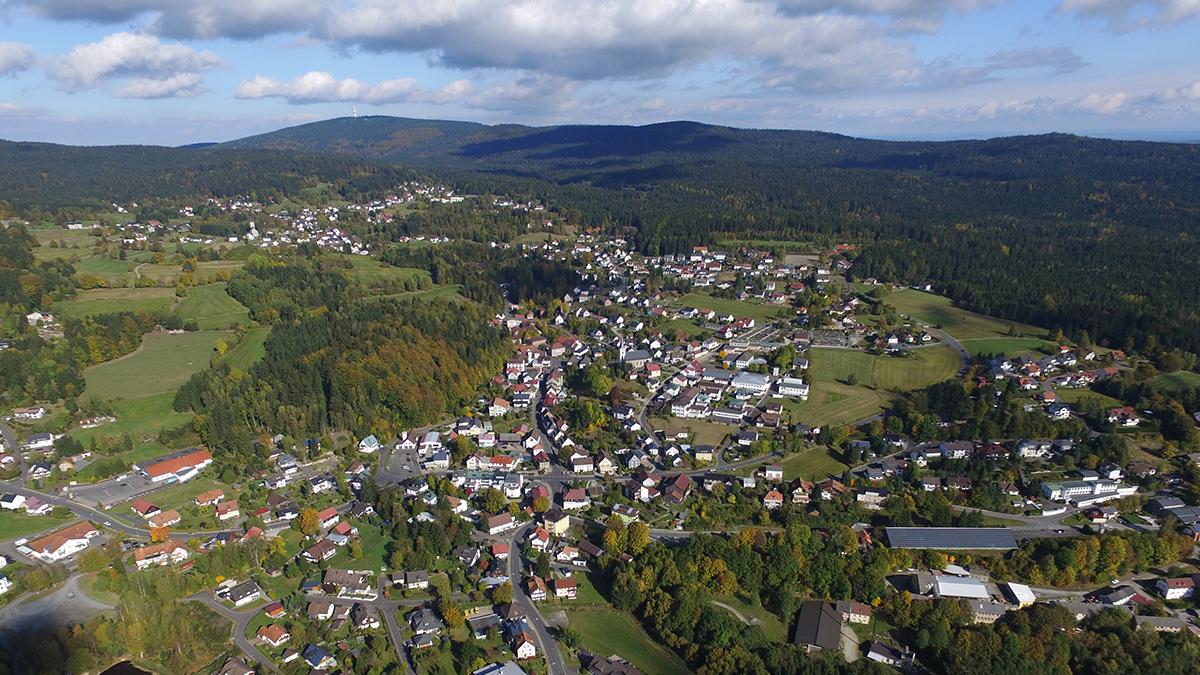 Blick auf Fichtelberg